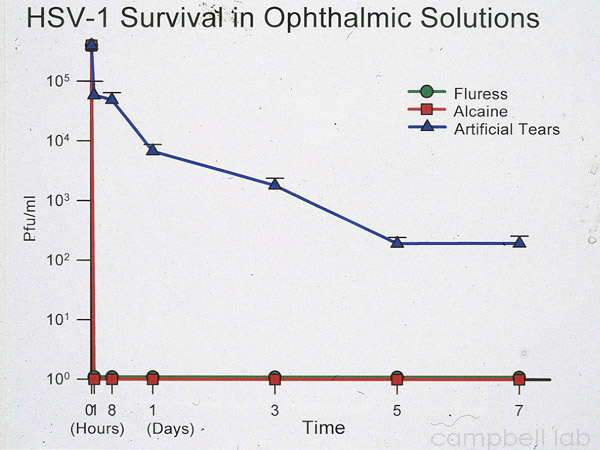 HSV Survival in solutions